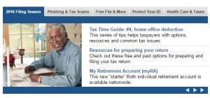 IRS screen grab
