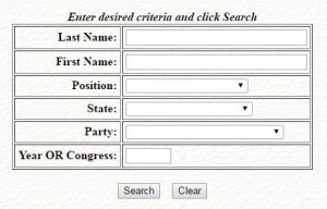 Biographical Directory search box